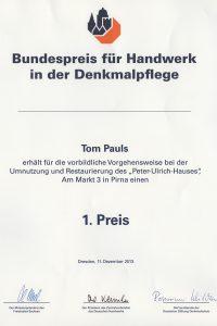1. Preis für Tom Pauls!